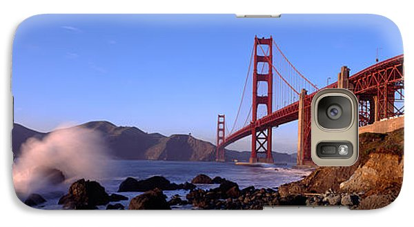 Bridge Across The Bay, San Francisco Galaxy Case by Panoramic Images