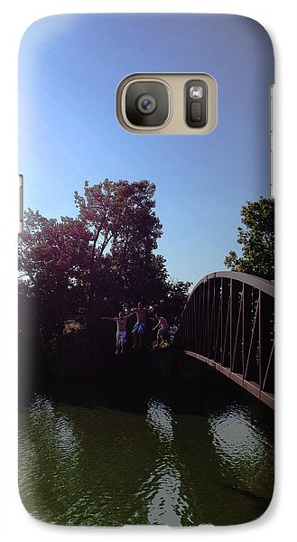 Galaxy Case featuring the photograph Bridge Jumpers by Michael Rucker