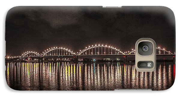 Galaxy Case featuring the photograph Bridge Lights by Ray Congrove