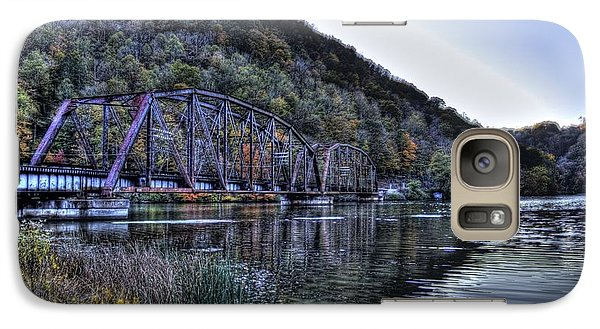 Galaxy S7 Case featuring the photograph Bridge On A Lake by Jonny D
