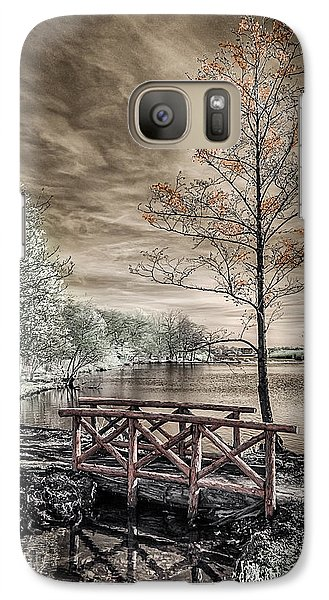 Galaxy Case featuring the photograph Bridge Over Calm Waters by Steve Zimic