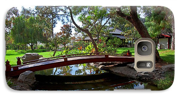 Galaxy Case featuring the photograph Bridge Over Japanese Gardens Tea House by Jerry Cowart