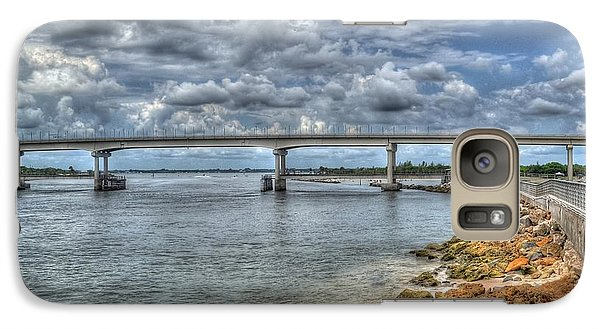 Galaxy Case featuring the photograph Bridge Over Sebastian Inlet by Timothy Lowry