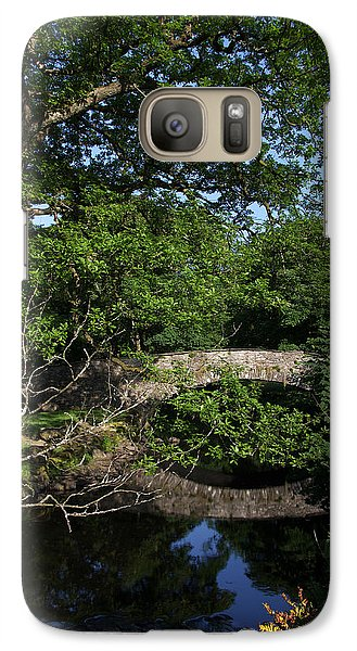 Galaxy Case featuring the photograph Bridge Over The River At Rydal Water by Graham Hawcroft pixsellpix