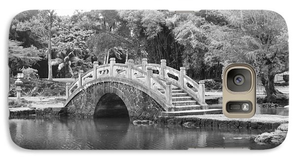 Galaxy Case featuring the photograph Bridge Over Tranquil Waters by Eva Rau