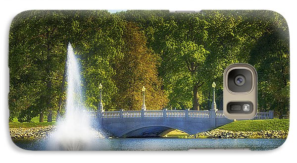 Galaxy Case featuring the photograph Bridge Over Troubled Waters by Skip Tribby