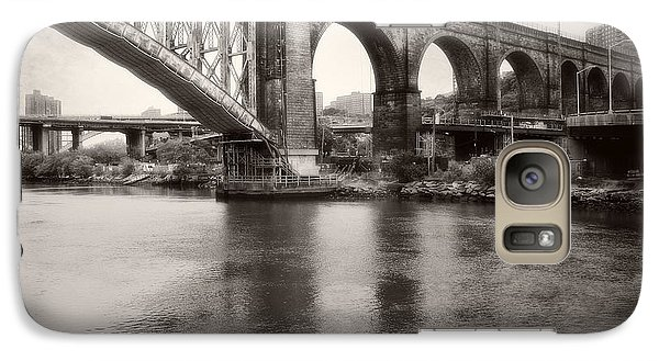 Galaxy Case featuring the photograph Bridge Reflections by Paul Cammarata