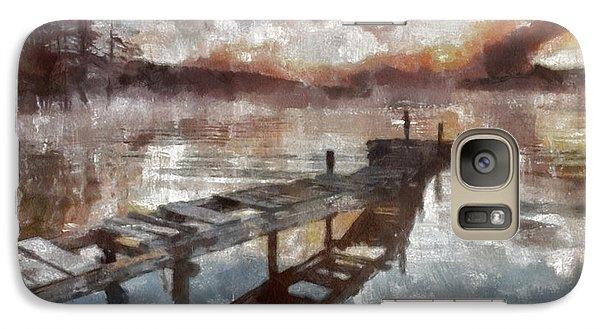 Galaxy Case featuring the painting Bridge To Eternity by Georgi Dimitrov