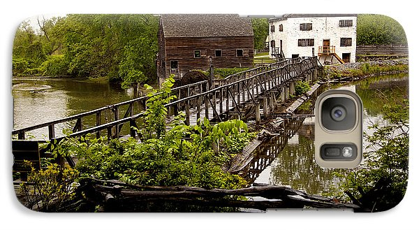 Galaxy Case featuring the photograph Bridge To Philipsburg Manor Mill House by Jerry Cowart