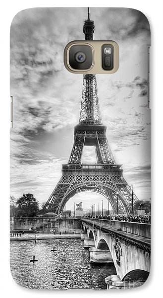 Galaxy Case featuring the photograph Bridge To The Eiffel Tower by John Wadleigh