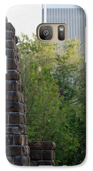 Galaxy Case featuring the digital art Bridge To The Future by Kelvin Booker