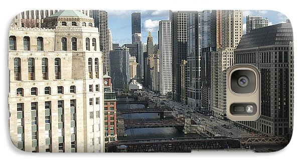 Galaxy Case featuring the photograph Bridges Over The East Branch Of The Chicago River by Sheryl Thomas