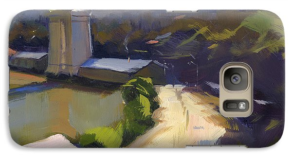 Galaxy Case featuring the painting Bridging Gaps After Colley Whisson by Nancy  Parsons