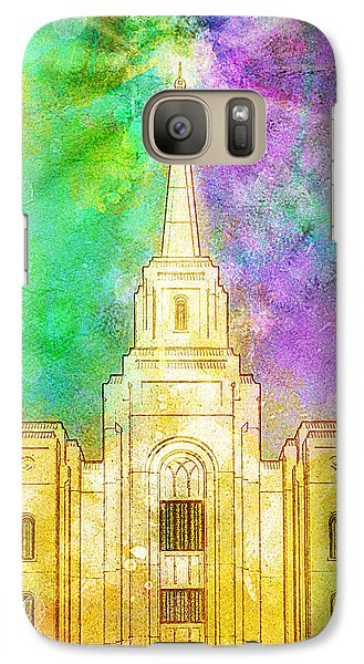 Galaxy Case featuring the painting The Heavens Were Opened by Greg Collins