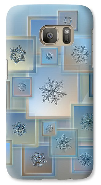 Galaxy Case featuring the photograph Snowflake Collage - Bright Crystals 2012-2014 by Alexey Kljatov