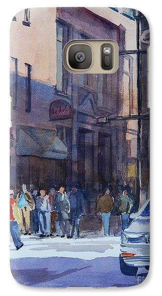 Galaxy Case featuring the painting Bright Day In The Canyon 2 by Ron Stephens
