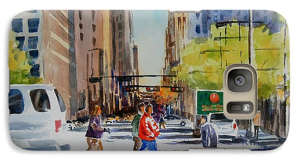 Galaxy Case featuring the painting Bright Day In The Canyon 3 by Ron Stephens