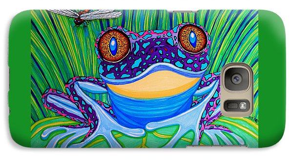 Bright Eyed Frog Galaxy Case by Nick Gustafson