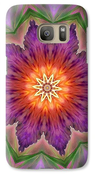 Galaxy Case featuring the digital art Bright Flower by Lilia D
