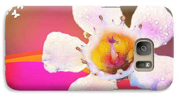 Galaxy Case featuring the digital art Bright Flower by Serene Maisey