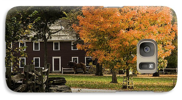 Galaxy Case featuring the photograph Bright Orange Autumn by Jeff Folger