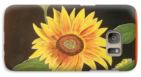 Galaxy Case featuring the painting Bright Sunflower by Cindy Micklos