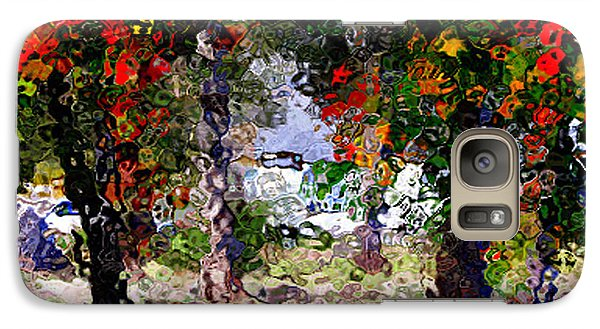 Galaxy Case featuring the digital art Bright Trees by Gayle Price Thomas