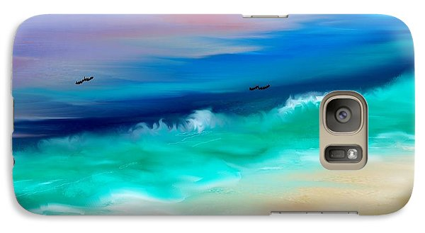 Galaxy Case featuring the digital art Brighter Days by Lori  Lovetere