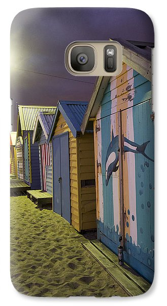 Galaxy Case featuring the photograph Brighton Beach Huts Melbourne by Serene Maisey