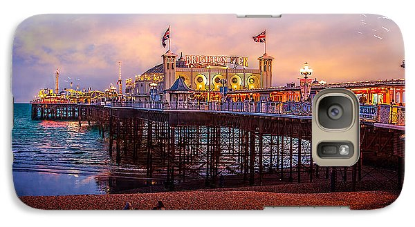 Galaxy Case featuring the photograph Brighton's Palace Pier At Dusk by Chris Lord