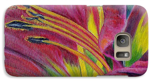 Galaxy Case featuring the painting Brilliance Within by Marilyn  McNish