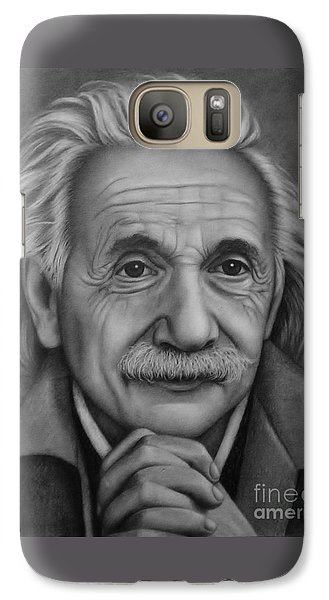 Galaxy Case featuring the painting Brilliant Mind by Paula L