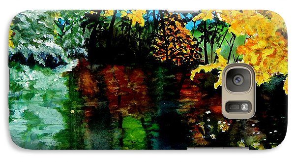 Galaxy Case featuring the painting Brilliant Mountain Colors In Reflection by Lil Taylor