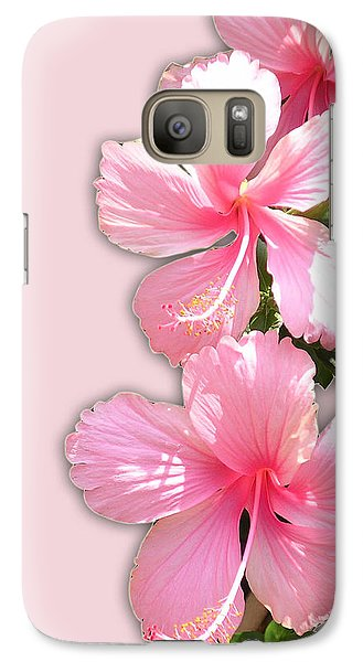 Galaxy Case featuring the photograph Brilliant Pink Hibiscuses by Karen Nicholson