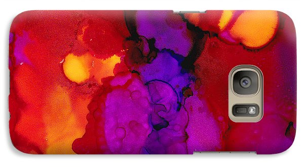 Galaxy Case featuring the painting Brilliant Red by Angela Treat Lyon