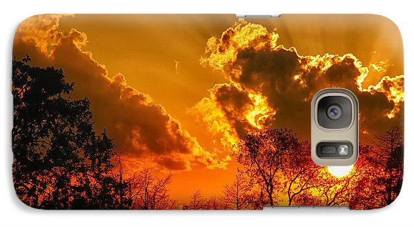 Galaxy Case featuring the photograph Brilliant Sunset by Susan D Moody