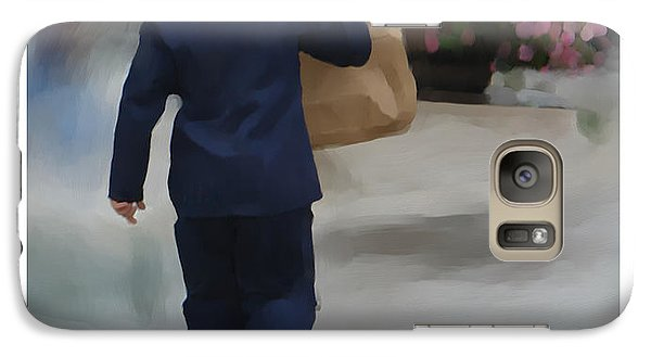 Galaxy Case featuring the painting Brining It Home To Mom by Bob Salo
