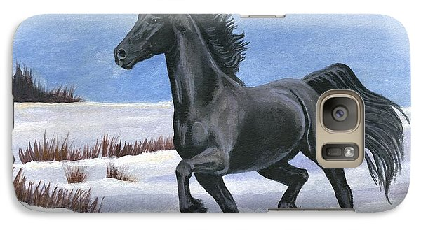 Galaxy Case featuring the painting Brisk Trot by Sheri Gordon