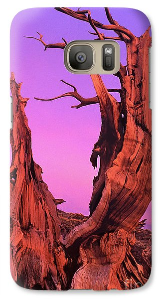 Galaxy Case featuring the photograph Bristlecone Pine At Sunset White Mountains Californa by Dave Welling