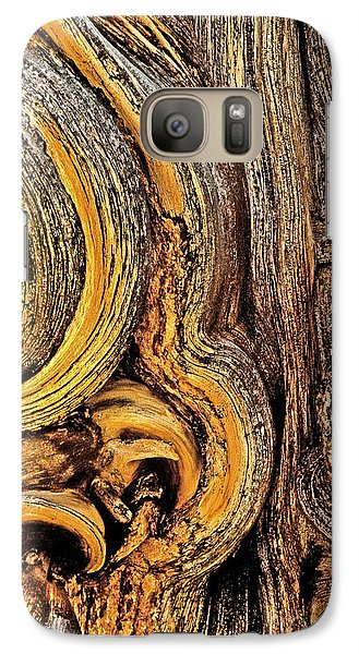Galaxy Case featuring the photograph Bristlecone Pine Bark Detail White Mountains Ca by Dave Welling