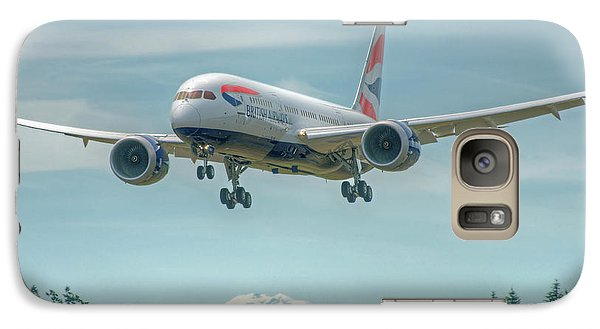 Galaxy Case featuring the photograph British Airways 787 by Jeff Cook