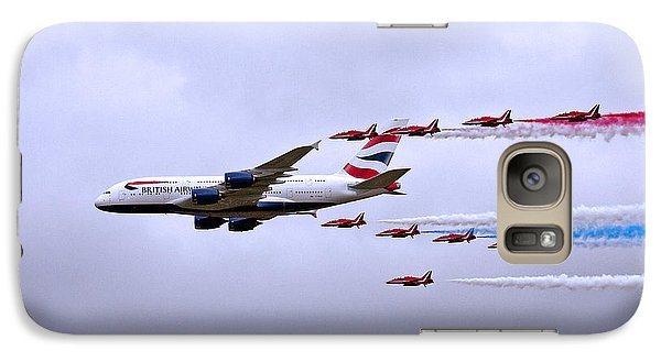 Galaxy Case featuring the photograph British Airways A380-841 by Paul Scoullar