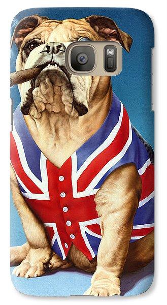 Portraits Galaxy S7 Case - British Bulldog by Andrew Farley