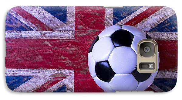 British Flag And Soccer Ball Galaxy S7 Case