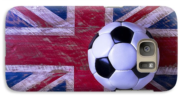 British Flag And Soccer Ball Galaxy Case by Garry Gay