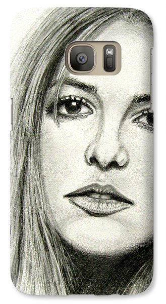 Galaxy Case featuring the drawing Britney Spears by Patrice Torrillo