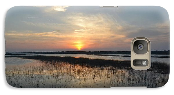 Galaxy Case featuring the photograph Broad Creek Sunset II by Carol  Bradley