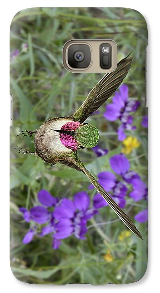 Galaxy Case featuring the photograph Broad-tailed Hummingbird - Phone Case by Gregory Scott