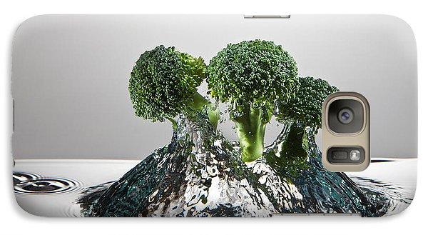 Broccoli Freshsplash Galaxy Case by Steve Gadomski