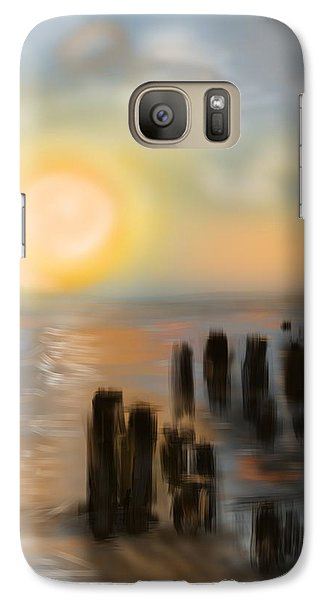 Galaxy Case featuring the digital art Broken Dock by Christine Fournier